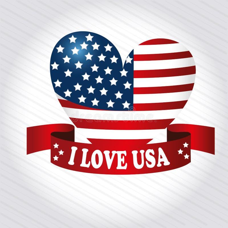 Сердце патриота иллюстрация вектора
