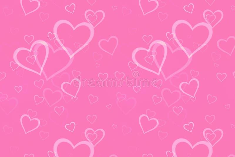 Сердце предпосылки розовое стоковая фотография