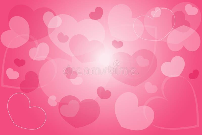 Сердце предпосылки розовое стоковое изображение rf