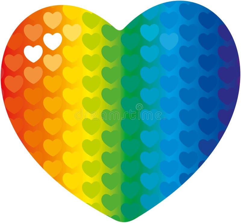 Сердце радуги стоковые фото