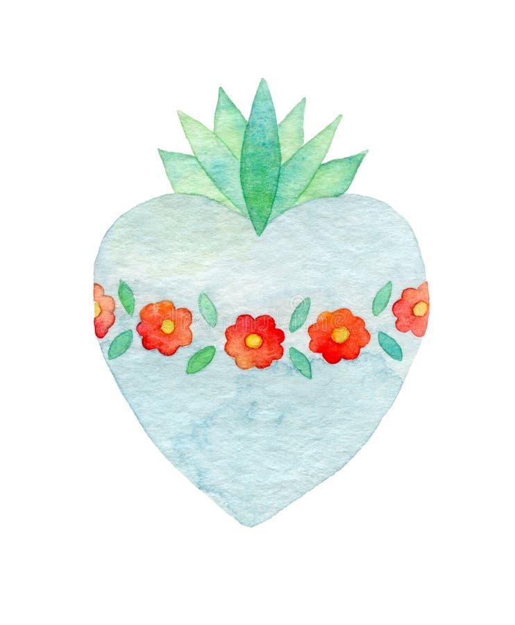 сердце священнейшее изображение иллюстрации летания клюва декоративное своя бумажная акварель ласточки части бесплатная иллюстрация
