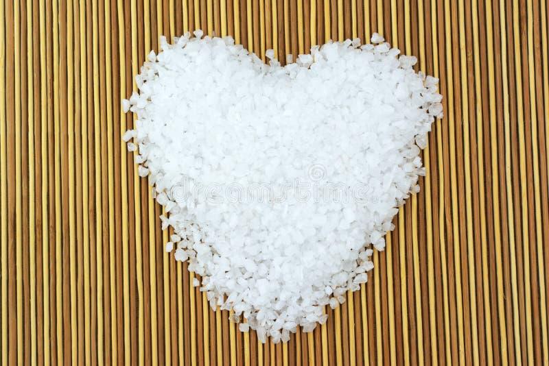 Сердце соли моря стоковые фотографии rf