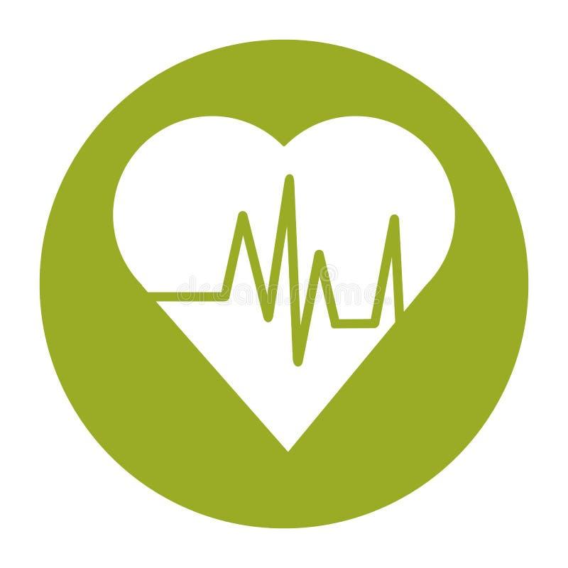 Сердце с дизайном ИМПа ульс и концепции фитнеса бесплатная иллюстрация