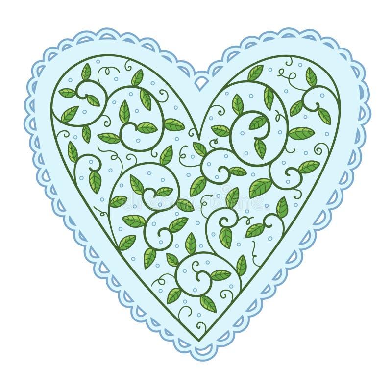 Сердце с листьями бесплатная иллюстрация