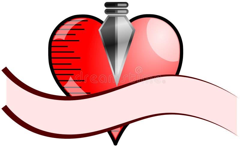 Сердце с наконечником бесплатная иллюстрация