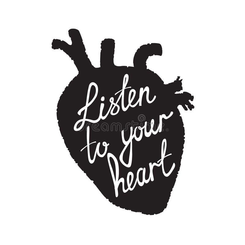 сердце слушает к вашему бесплатная иллюстрация
