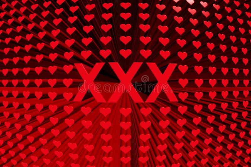 Сердце текстурирует xxx иллюстрация вектора