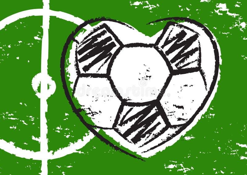 Сердце футбола иллюстрация вектора
