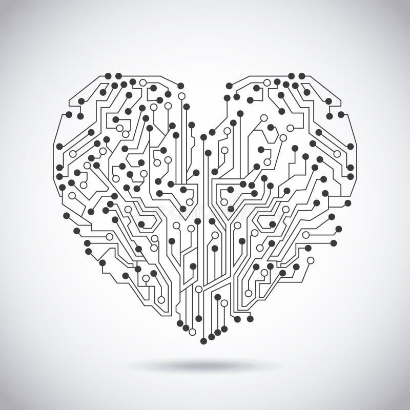 Сердце цепи бесплатная иллюстрация
