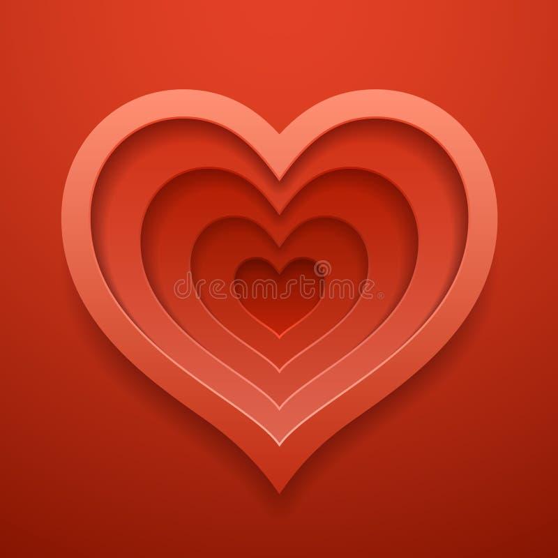 Сердце cutted вне формирует Шаблон на ` s валентинки или день свадьбы бесплатная иллюстрация