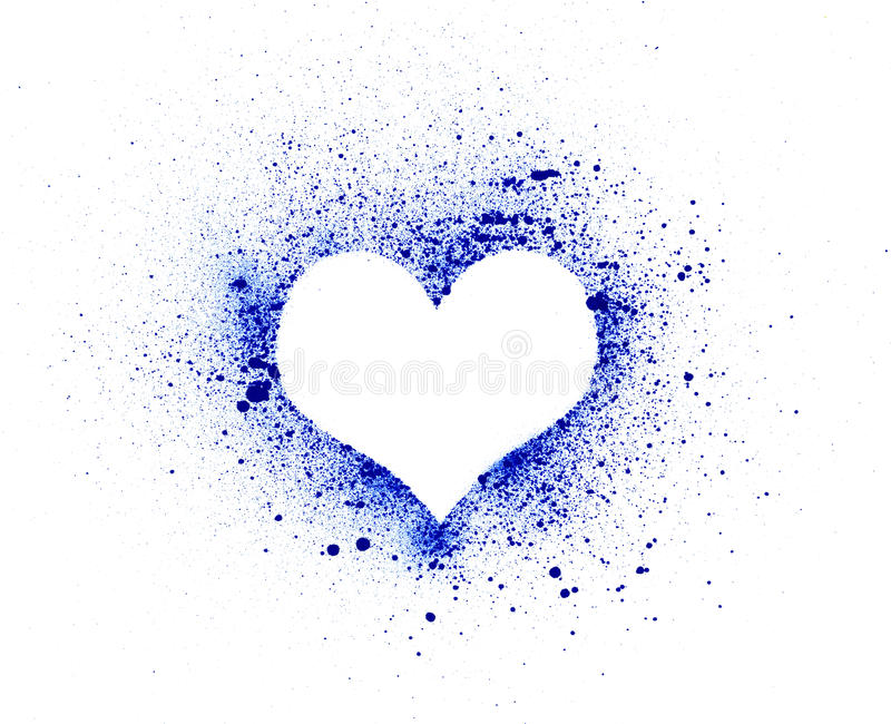 Сердце Grunge, splatter чернил иллюстрация вектора