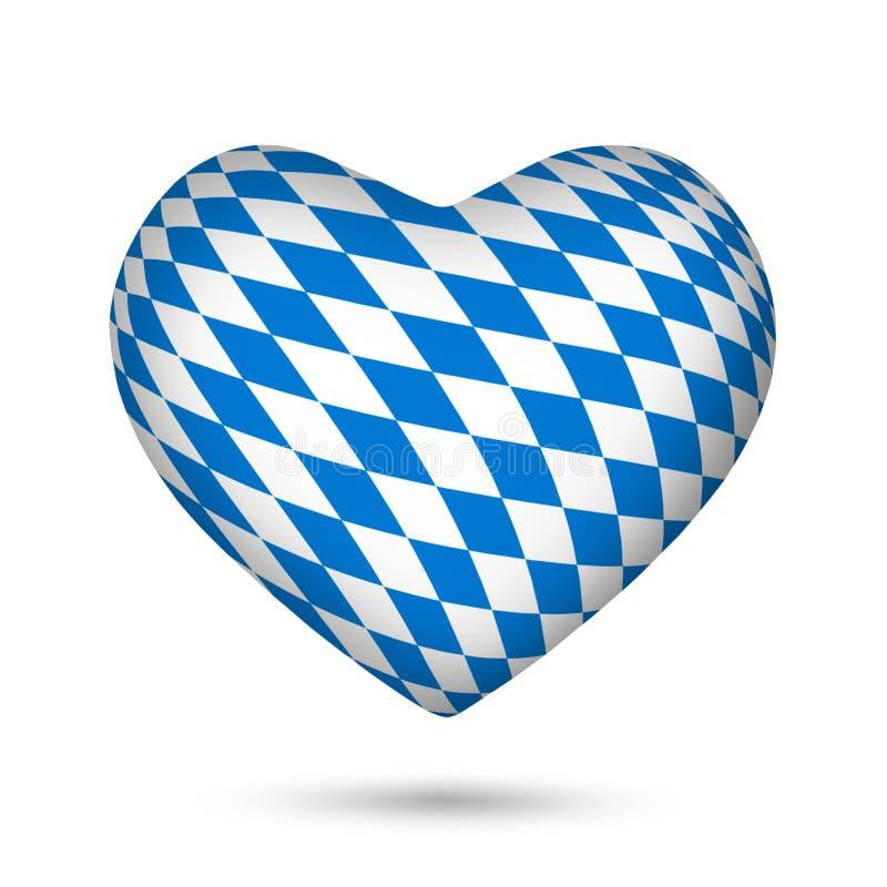 Сердце Oktoberfest Баварии иллюстрация вектора