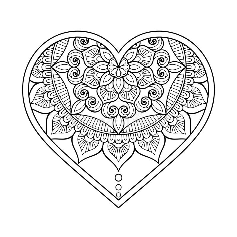 Сердце ornamental вектора иллюстрация вектора