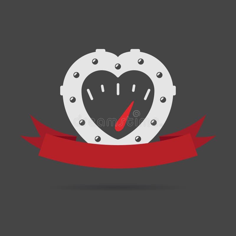 Сердце Steampunk иллюстрация вектора