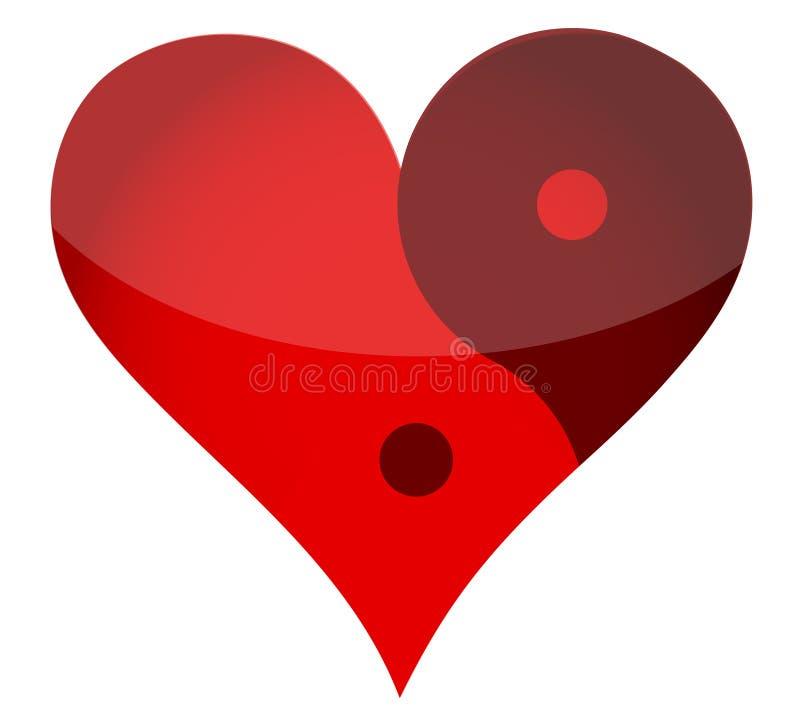 Сердце Yin yan бесплатная иллюстрация