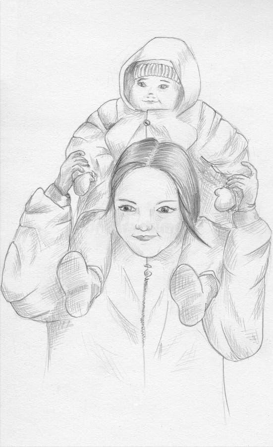 сестры иллюстрация штока