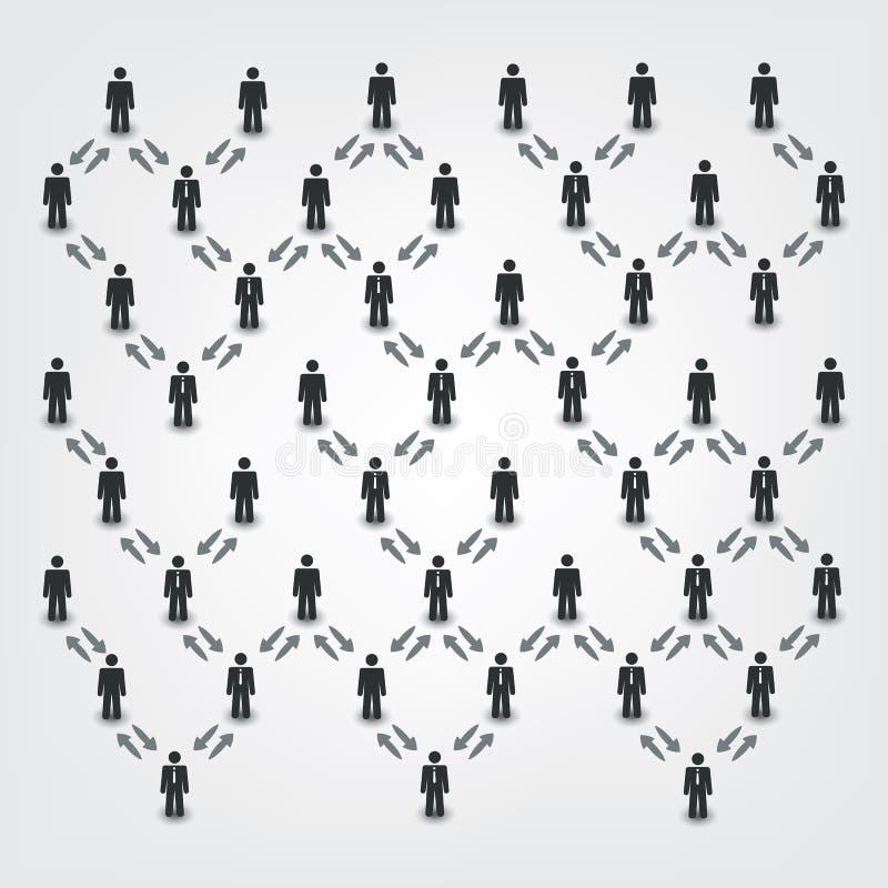 Сети, соединения: Social, дело, тема руководителя иллюстрация штока