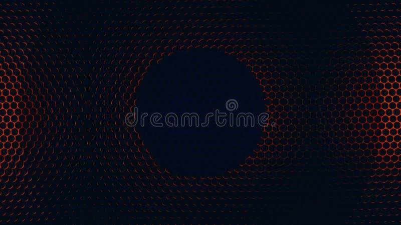 Сетка металла с красочными круглыми отверстиями любит вращая предпосылка Красочная алюминиевая текстура картины отверстия цветаст иллюстрация вектора