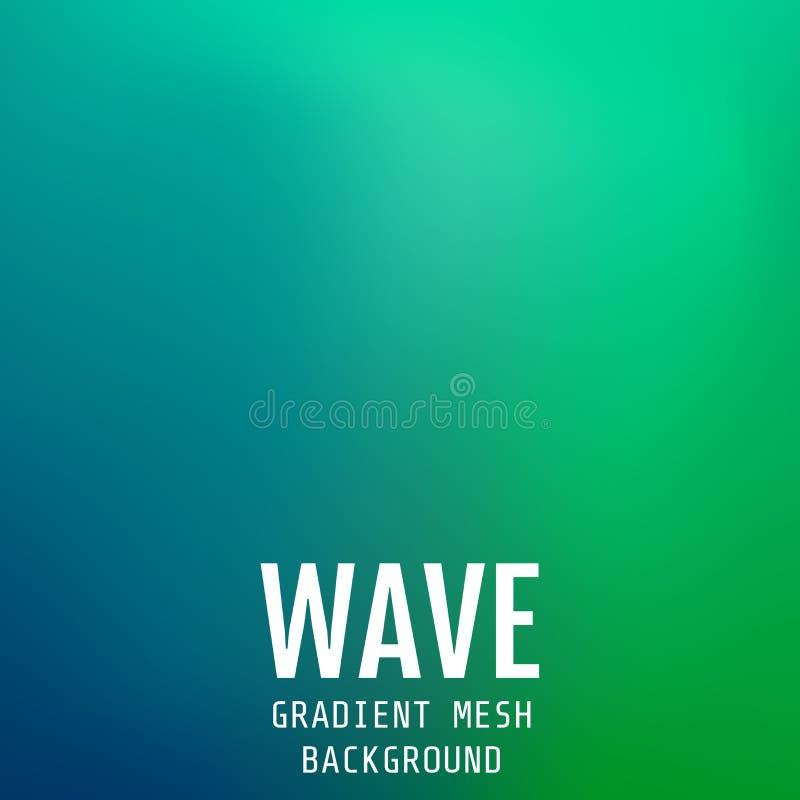 Сетки градиента конспекта backgroun волны зеленоголубой яркой восточное иллюстрация вектора