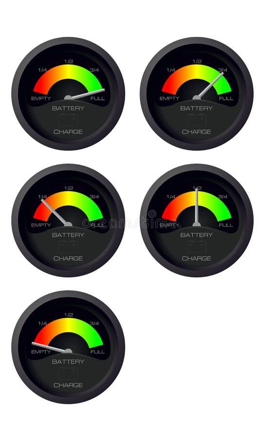 Сетноой-аналогов индикатор состава рабочей смеси батареи иллюстрация штока