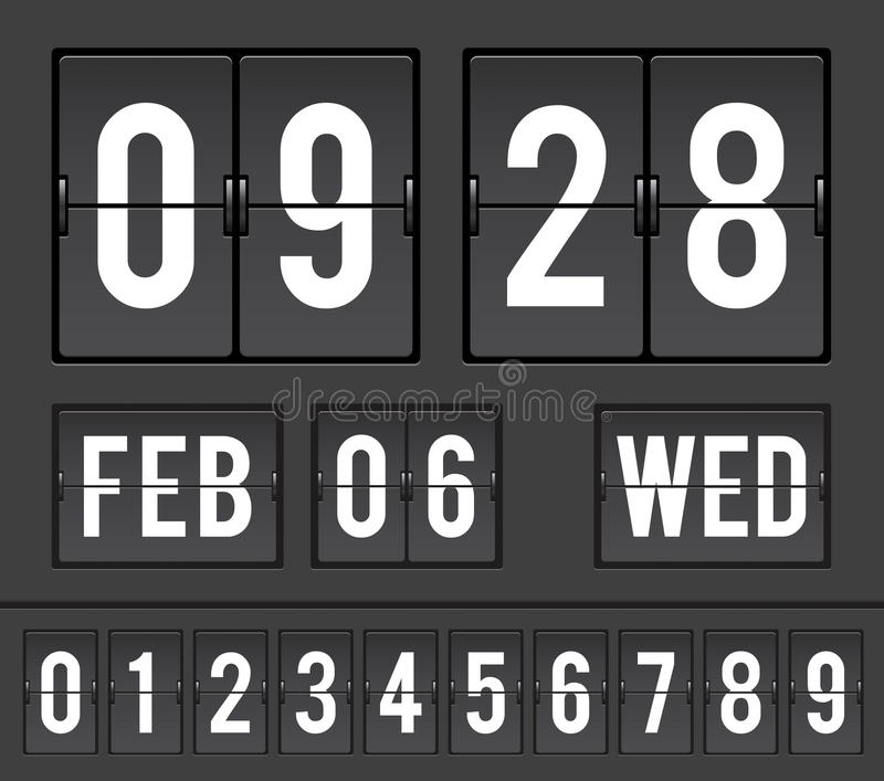 Сетноой-аналогов отметчик времени сальто комплекса предпусковых операций бесплатная иллюстрация
