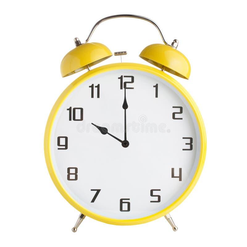 Сетноой-аналогов показ будильника 10 часов, 10pm или 10 часов утра изолированный на белой предпосылке стоковые изображения rf