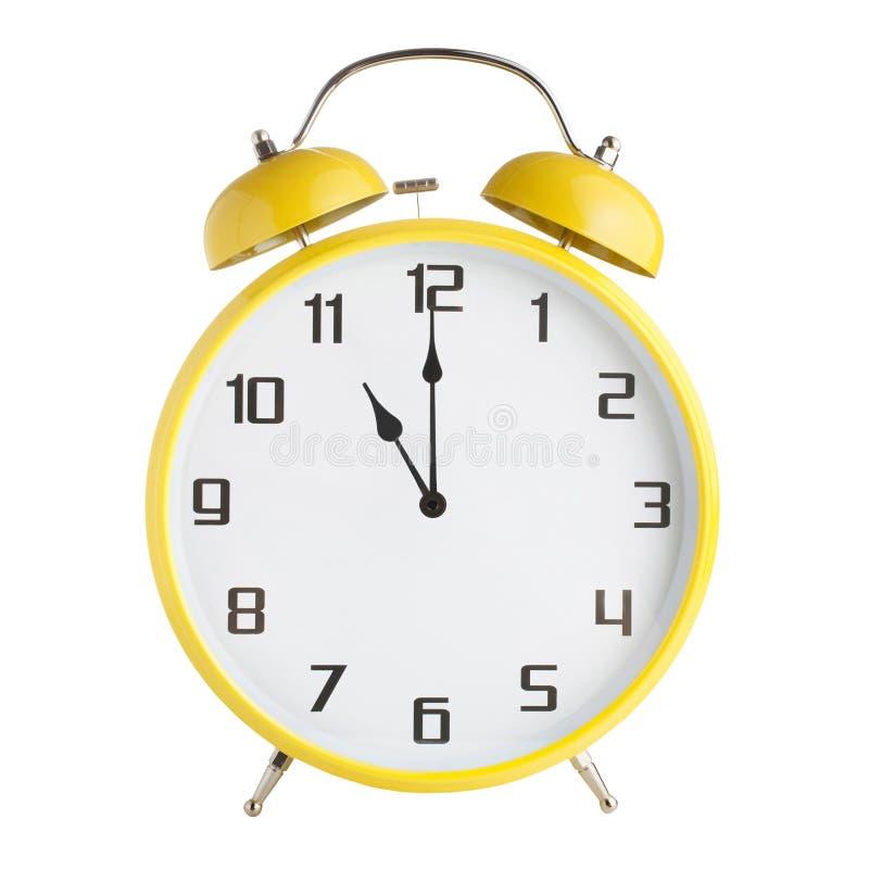 Сетноой-аналогов показ будильника 11 час, 11pm или 11am изолированные на белой предпосылке стоковые изображения