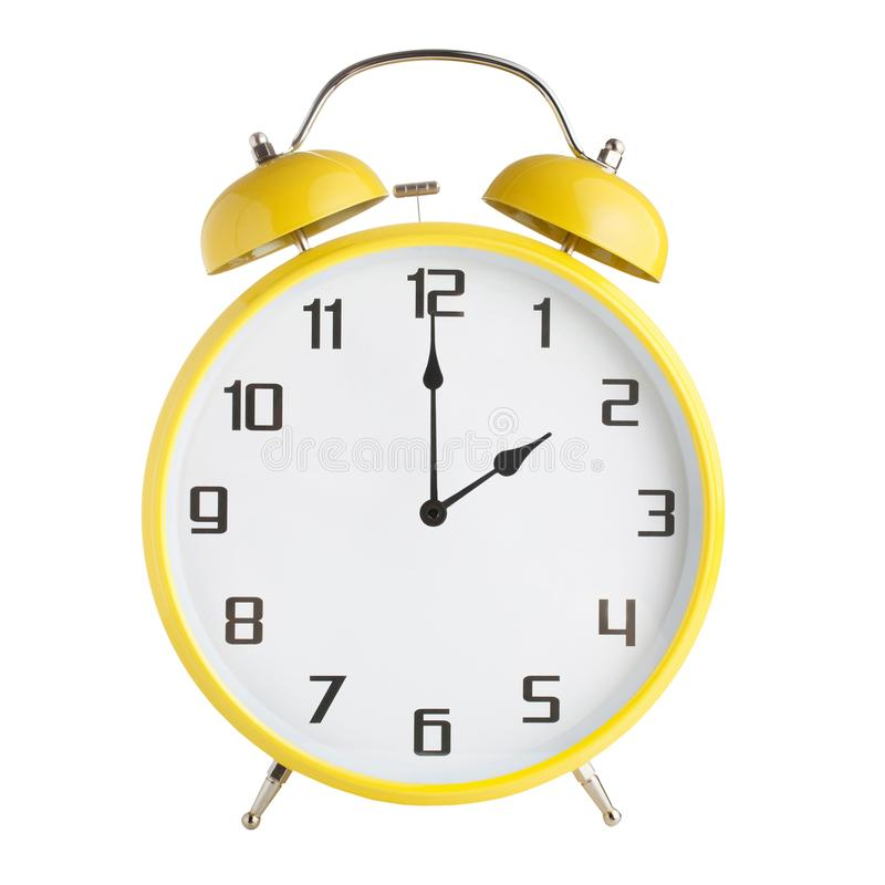 Сетноой-аналогов показ будильника 2 час, 2pm или 2am изолированные на белой предпосылке стоковая фотография