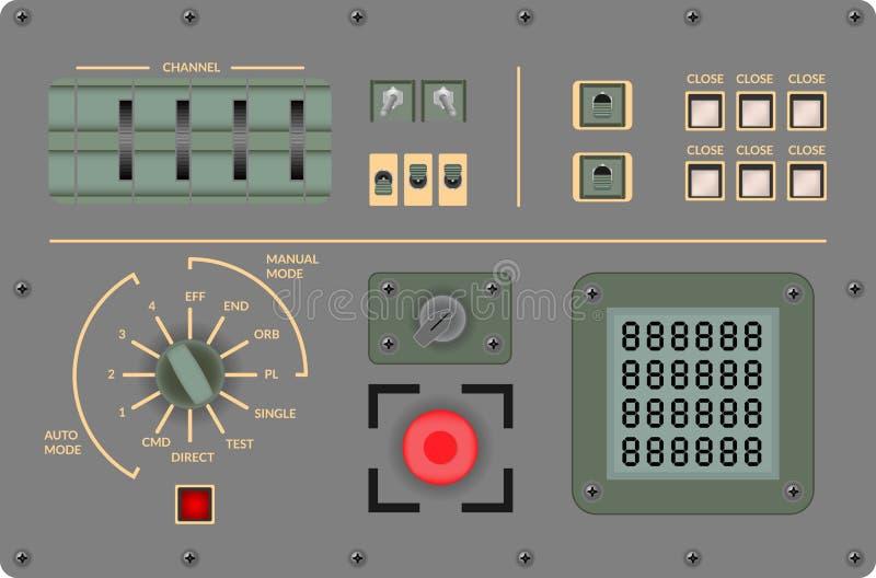 Сетноой-аналогов винтажный пульт управления - иллюстрация вектора стоковые фотографии rf