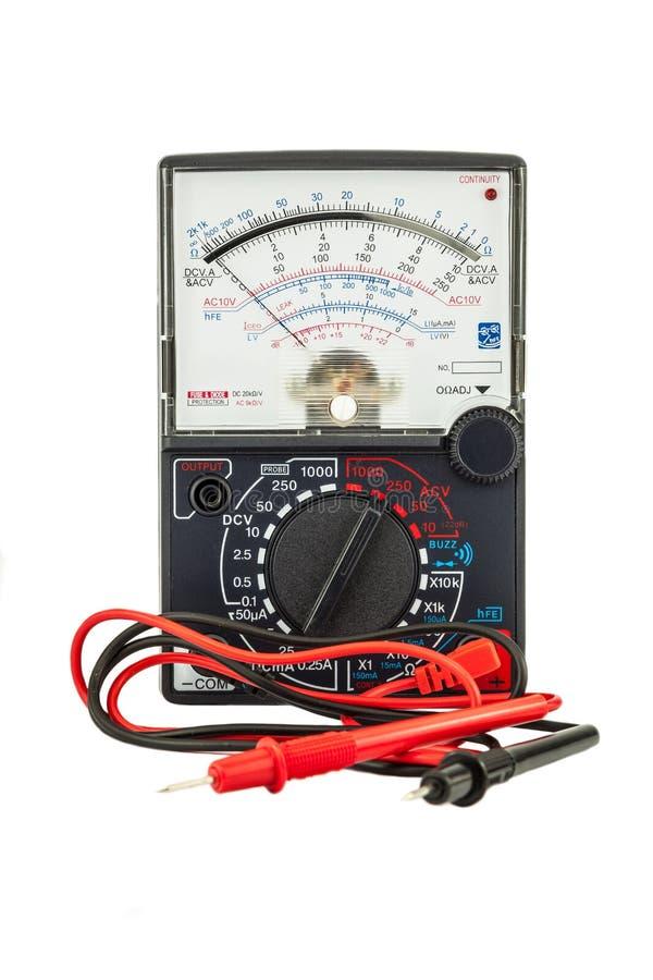 Сетноой-аналогов вольтамперомметр стоковое изображение
