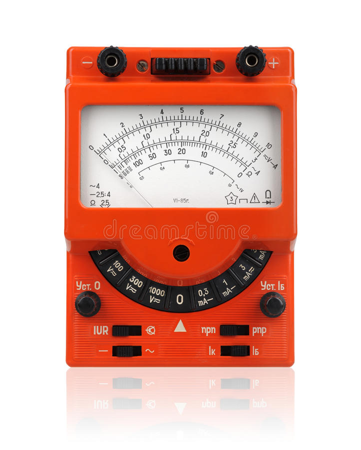 сетноой-аналогов вольтамперомметр стоковое изображение rf