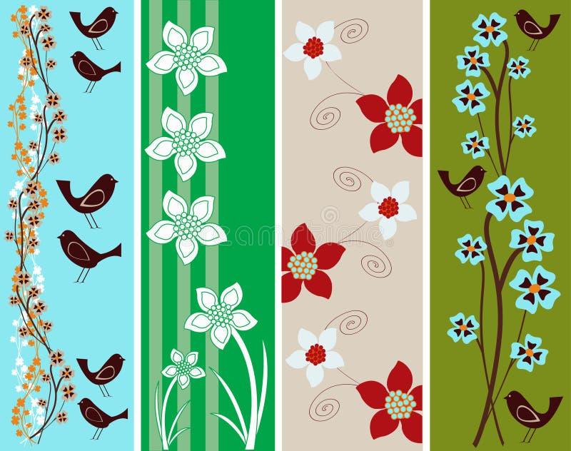 сеть абстрактных знамен флористическая бесплатная иллюстрация