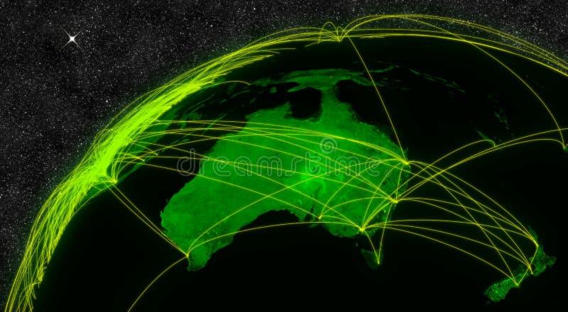 Сеть Австралии иллюстрация вектора
