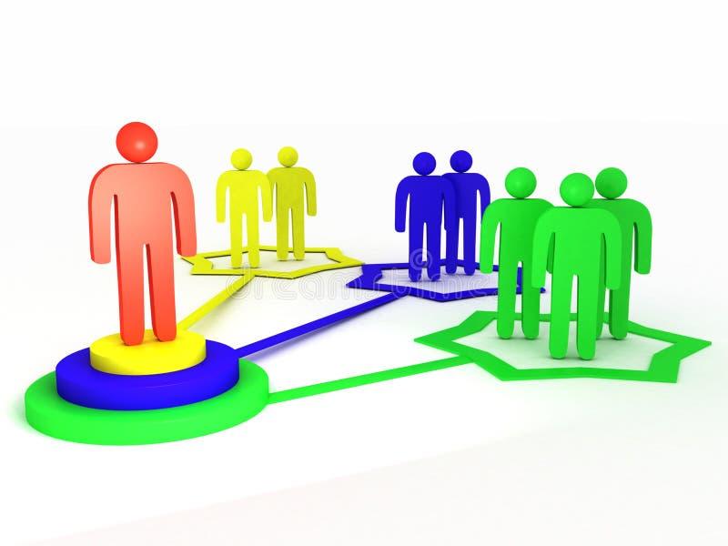 сеть администратора иллюстрация вектора