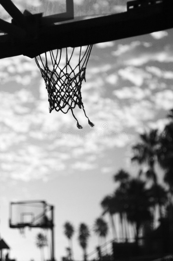 сеть баскетбола стоковая фотография