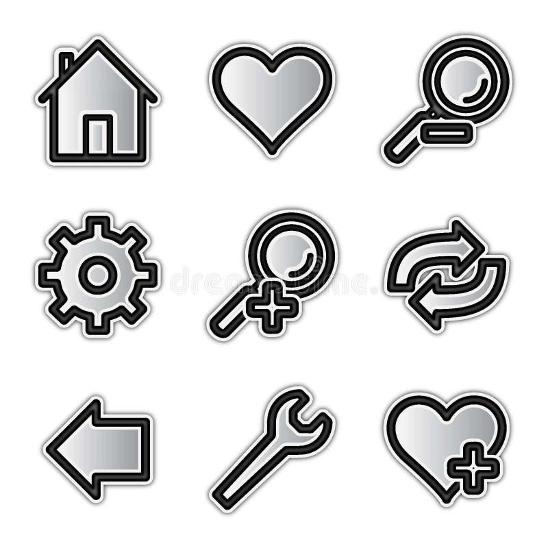 сеть вектора инструментов икон контура серебряная иллюстрация вектора