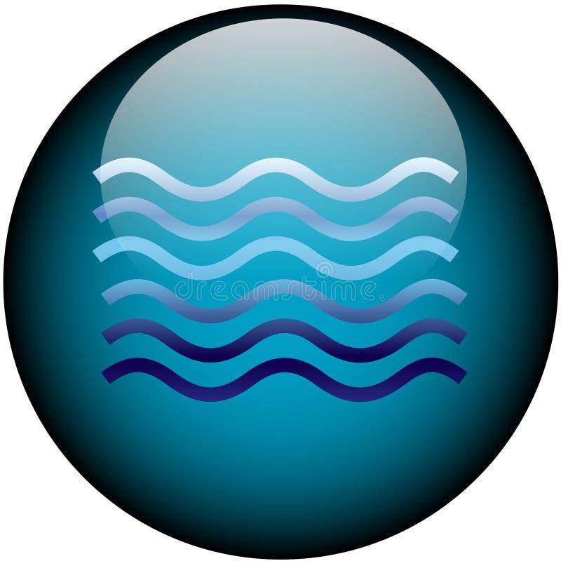 сеть воды кнопки стеклянная бесплатная иллюстрация