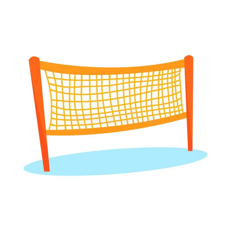 Сеть волейбола или бадминтона шаржа оранжевая иллюстрация вектора