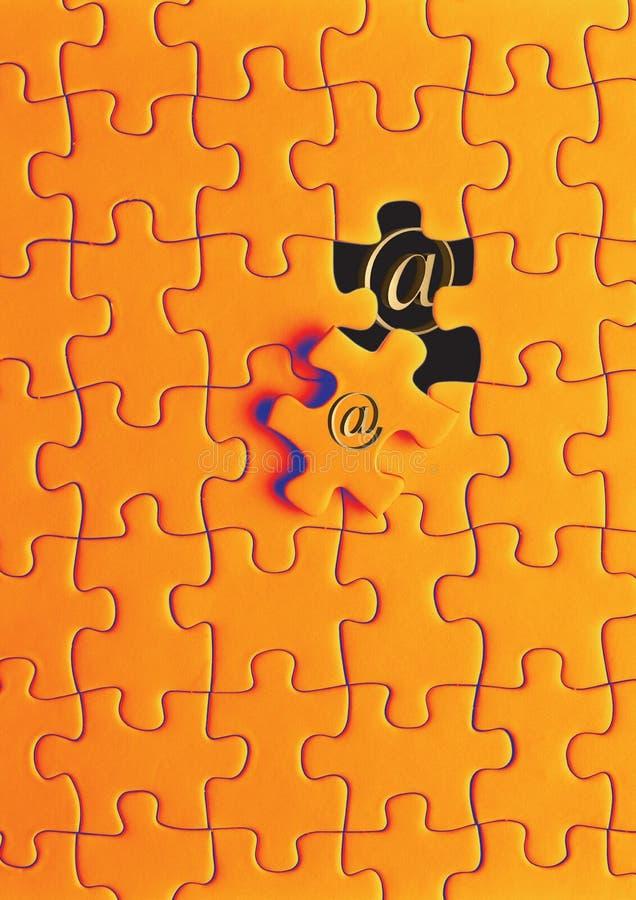сеть головоломки стоковые изображения rf