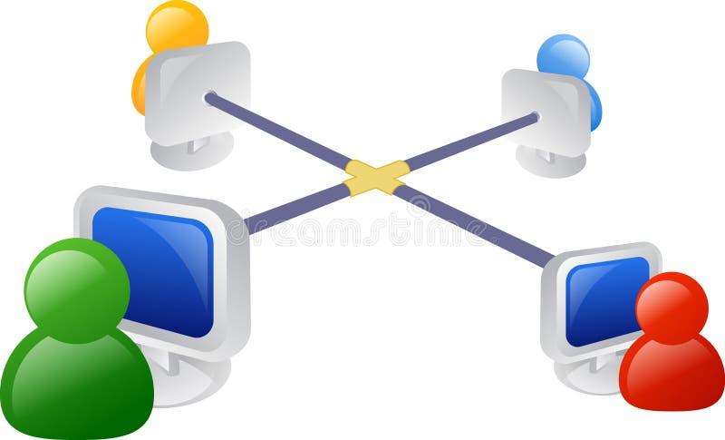 сеть дела иллюстрация вектора