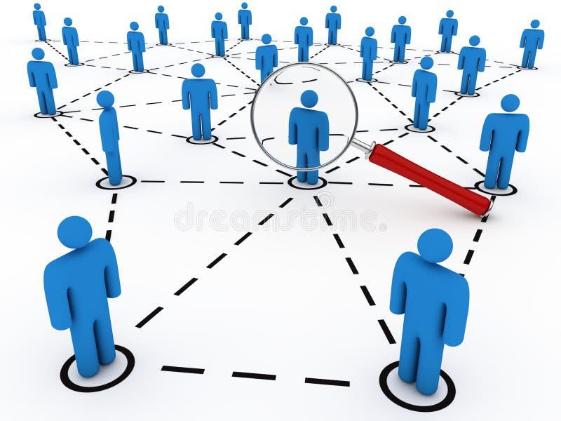 сеть друзей ища social иллюстрация штока