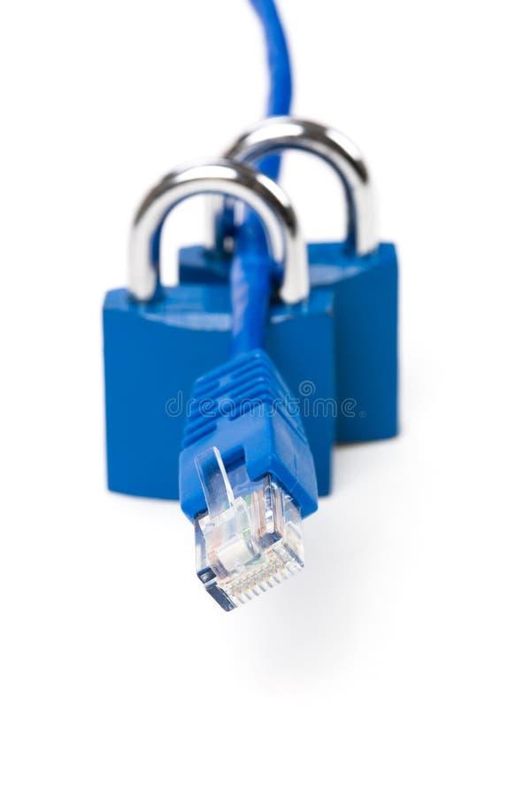 сеть замка кабеля стоковая фотография rf