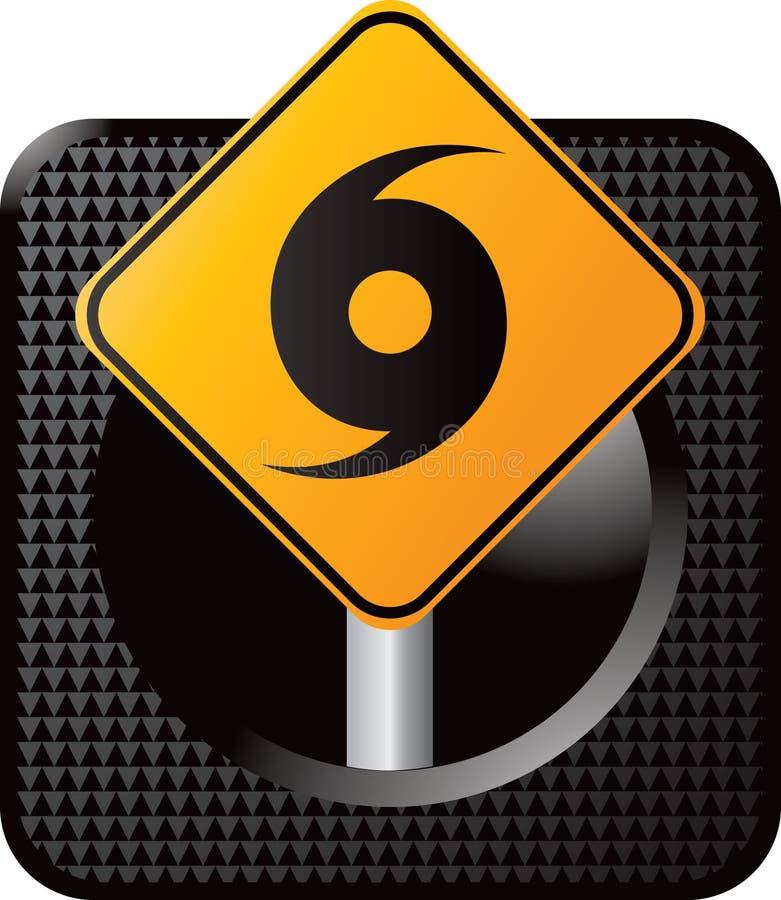 сеть знака иконы урагана предупреждающая иллюстрация штока