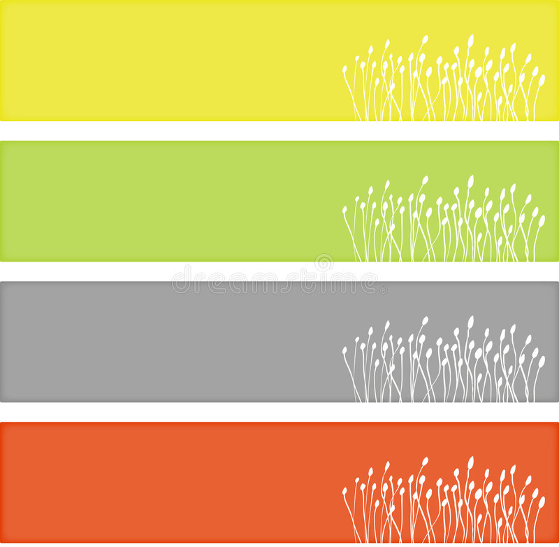 сеть знамен флористическая бесплатная иллюстрация