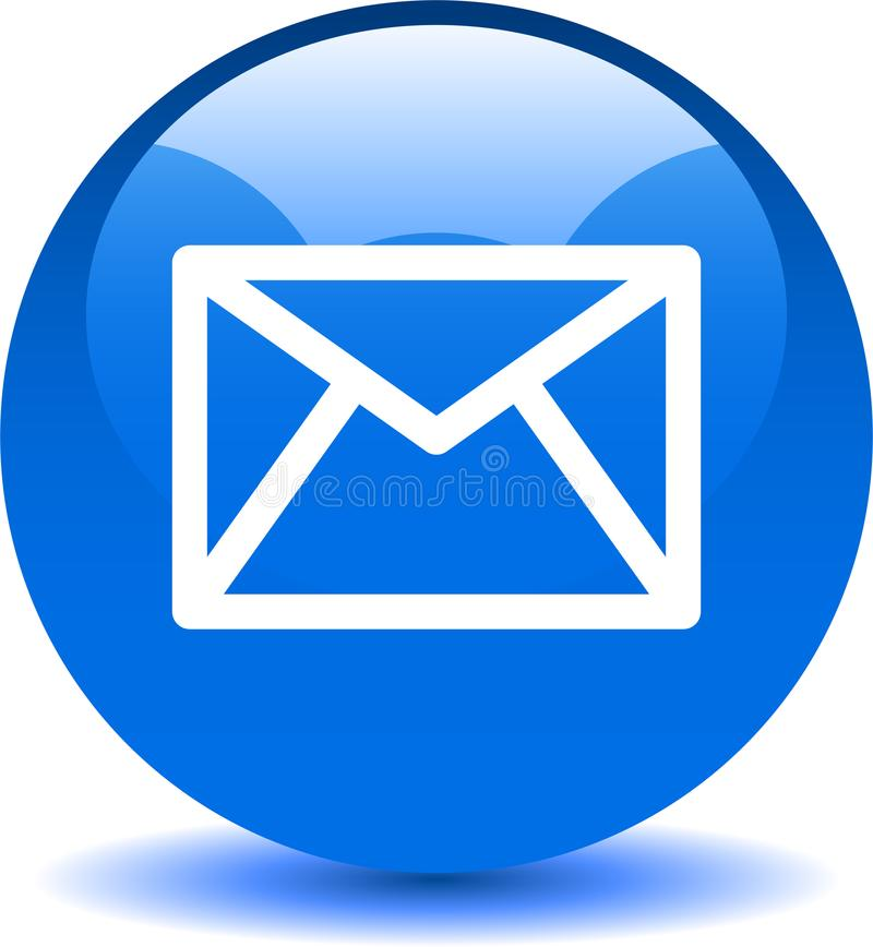 Сеть значка почты контакта застегивает синь бесплатная иллюстрация