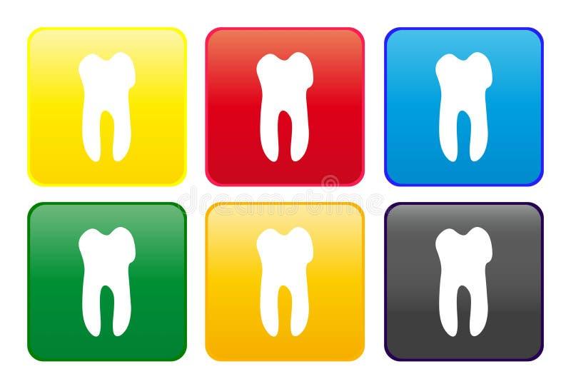 сеть зуба кнопки иллюстрация вектора