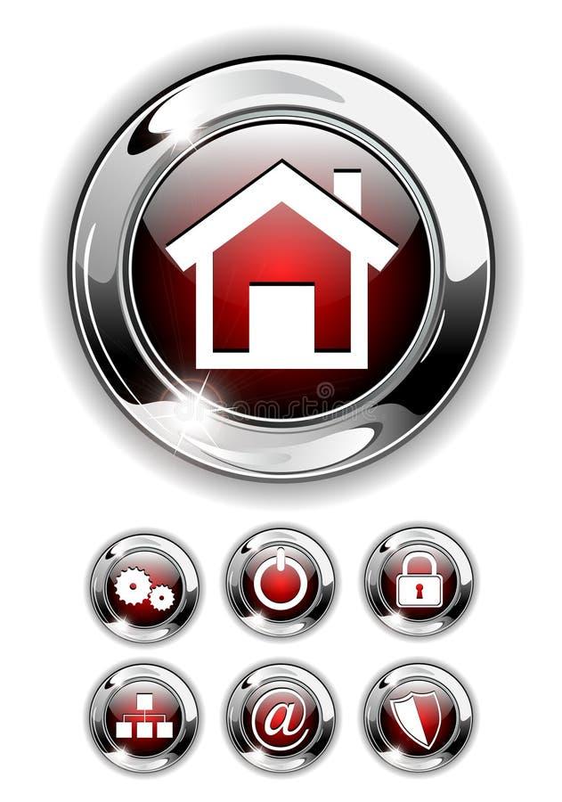 сеть иконы кнопки установленная бесплатная иллюстрация