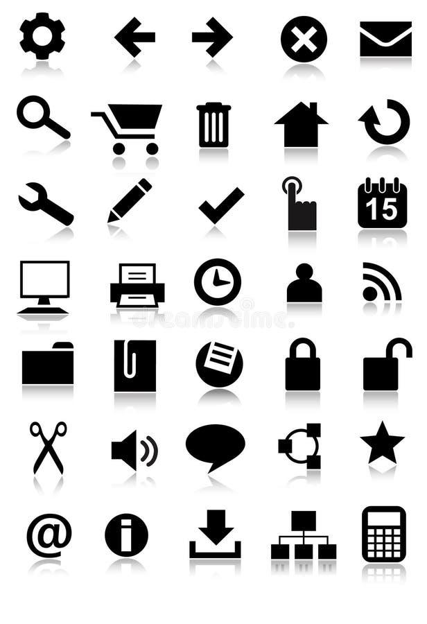 сеть иконы применения установленная просто иллюстрация штока