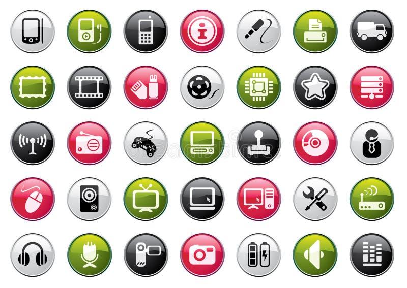 сеть иконы собрания иллюстрация вектора