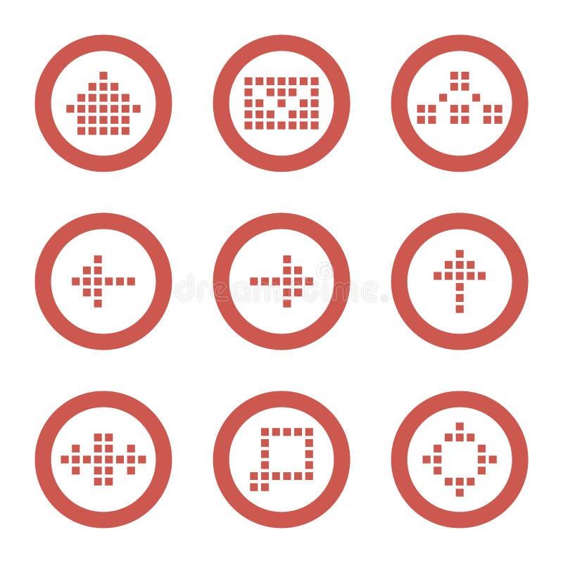 сеть иконы установленная иллюстрация штока